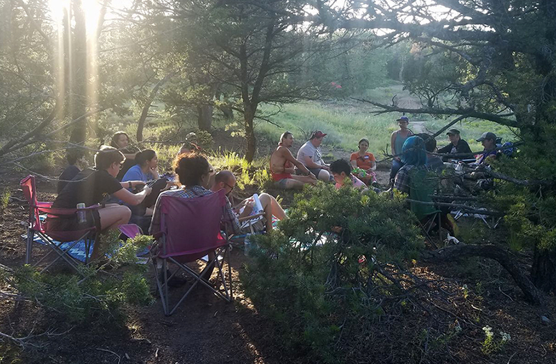Group activity at Queer Campout 2018